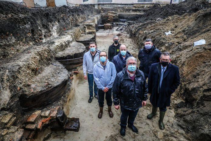 Archeologische opgravingen in de Sint-Annarei.