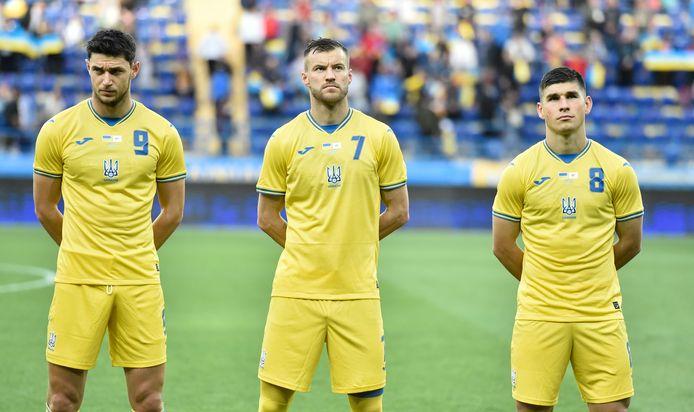 Roman Yaremchuk, Andriy Yarmolenko et Ruslan Malinovskyi
