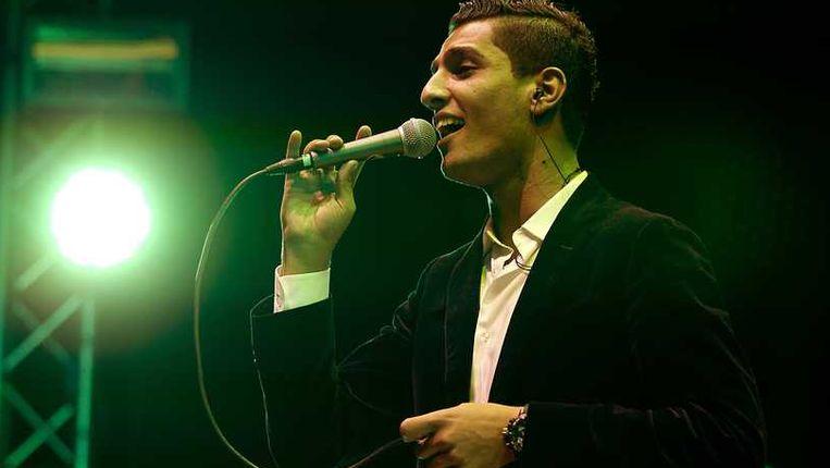 Mohammed Assaf, zondagavond in Den Haag. Beeld anp