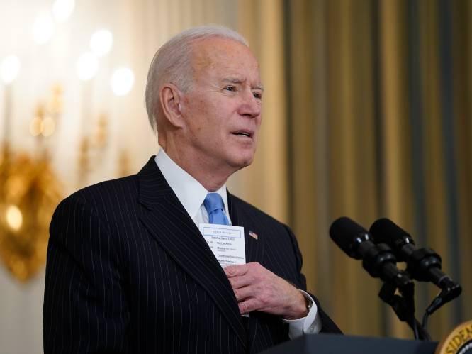"""Joe Biden: """"Voldoende vaccins voor alle volwassenen in de VS tegen eind mei"""""""