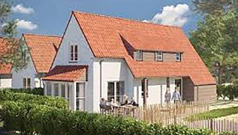 Zo gaat het Breeduyn Village in Bredene er uitzien. Beeld roompot.nl