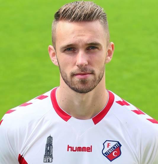 Leon de Kogel in FC Utrechtshirt.