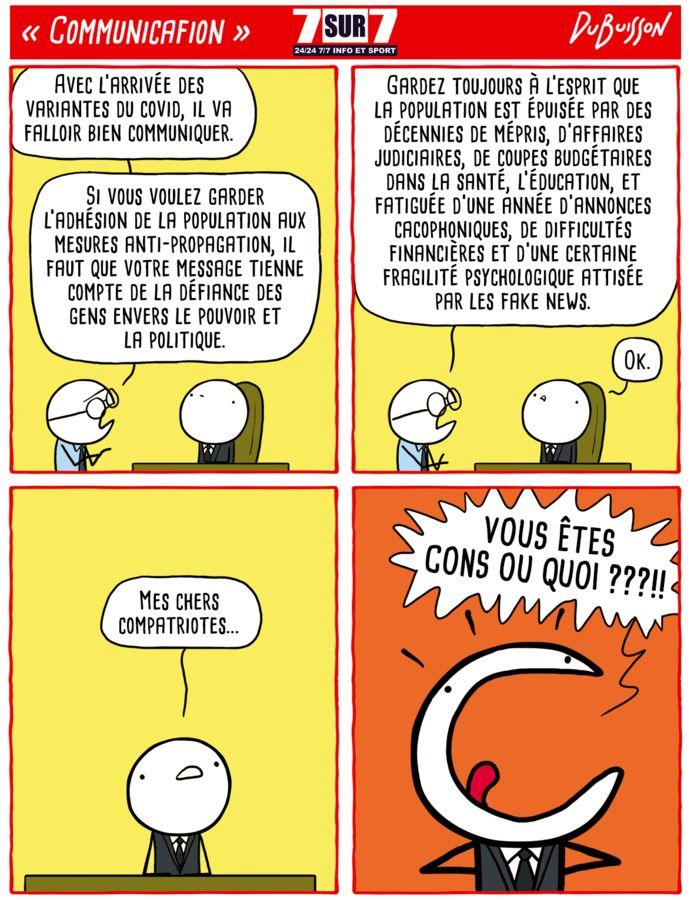 """Communicafion"", 25 janvier 2021."