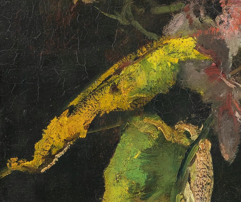 Detail uit 'Bloemstilleven, anemonen en bladeren', 1889, van Floris Verster.  Beeld Groninger Museum