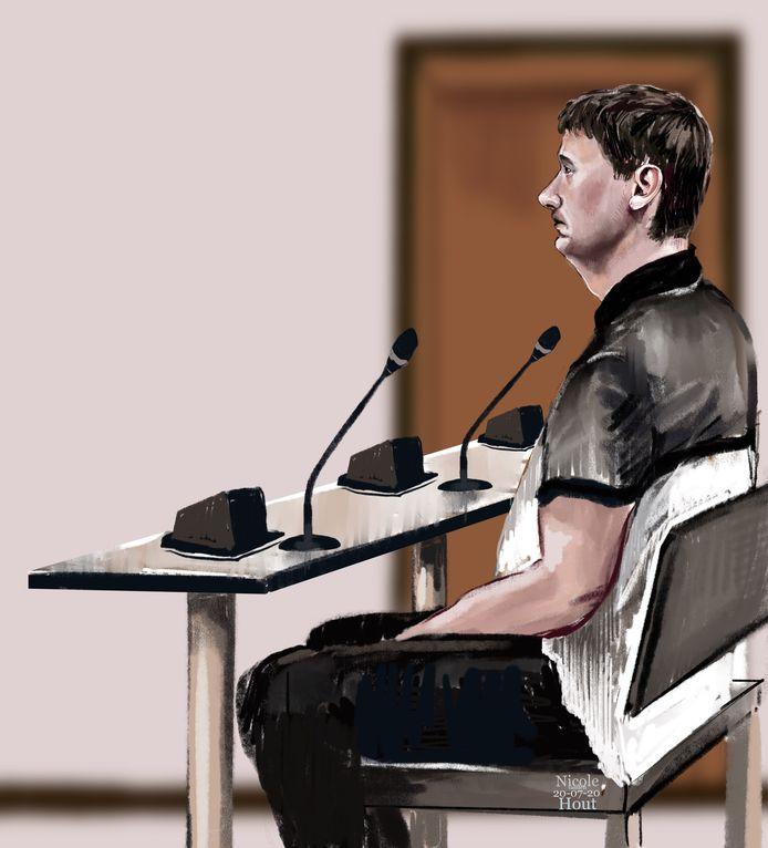De 26-jarige man uit Schoonloo in de Haagse rechtbank.