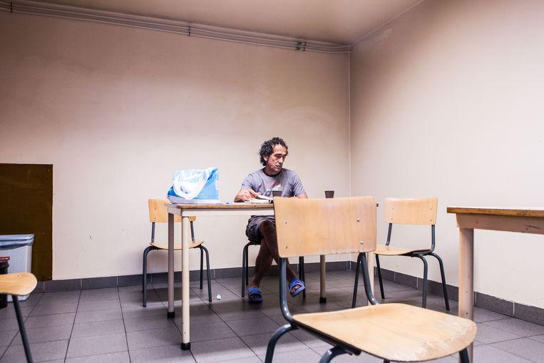Opvangcentrum De Vaart voor daklozen.  Beeld Thomas Legrève