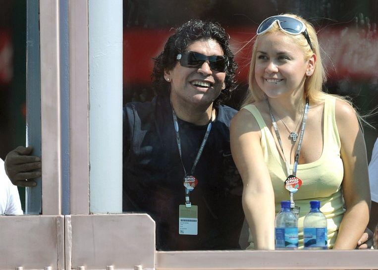 Diego Maradona en zijn vrouw Veronica Ojeda Beeld null