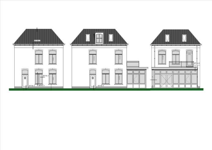 Zoiets zou het moeten worden, de nieuwe 'stadsvilla' aan de Bovenhavenstraat