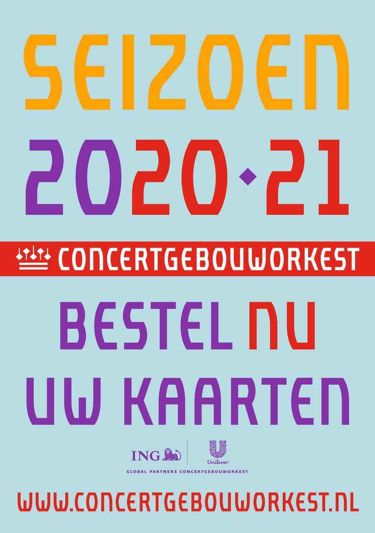 Poster van het Concertgebouworkest. Beeld Concertgebouworkest
