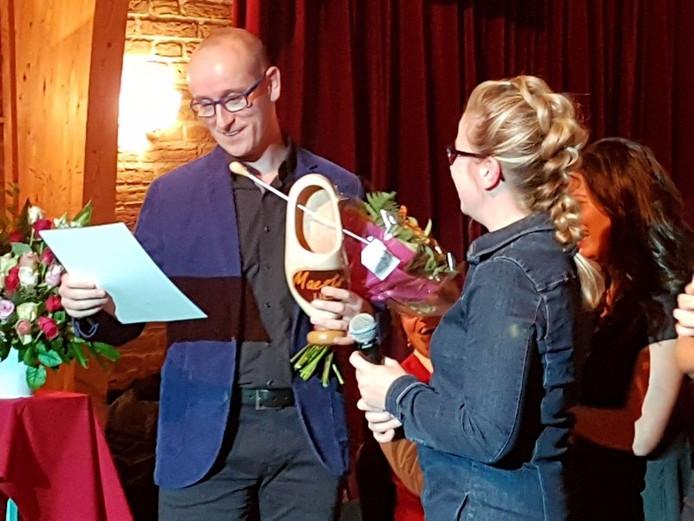 Edwin Vugts met de Liempdse Maestro-klomp.