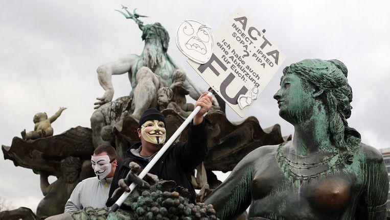 Protest in Berlijn tegen ACTA Beeld getty