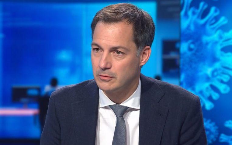 Premier Alexander De Croo (Open Vld). Beeld VTM Nieuws