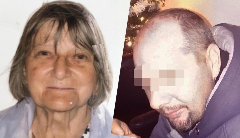 Frank Pauwels (r) bracht vier jaar geleden z'n moeder Solange Hennaert (l) om het leven.