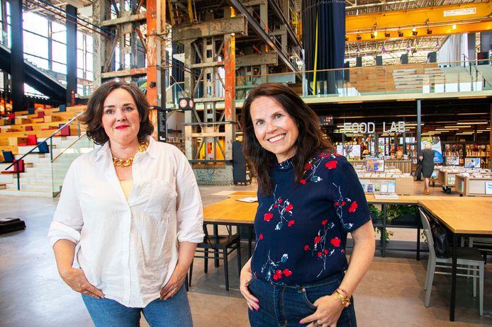 Eva van Wijngaarden (links) en Beppie Smit, de twee kandidaten voor het lijsttrekkerschap van D66 Tilburg.