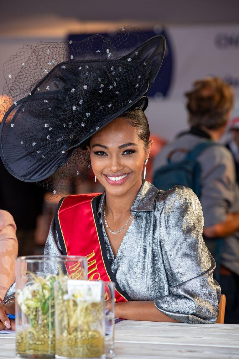 Miss België 2021 Kedist Deltour. Beeld BELGA