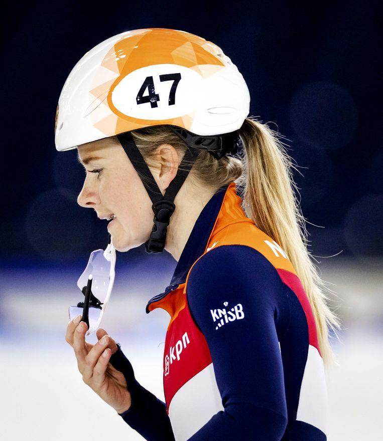 Yara van Kerkhof kende een zwaar jaar door het overlijden van ploeggenote Lara van Ruijven in juli 2020. 'Lara blijft me in ieder geval altijd bij.' Beeld ANP