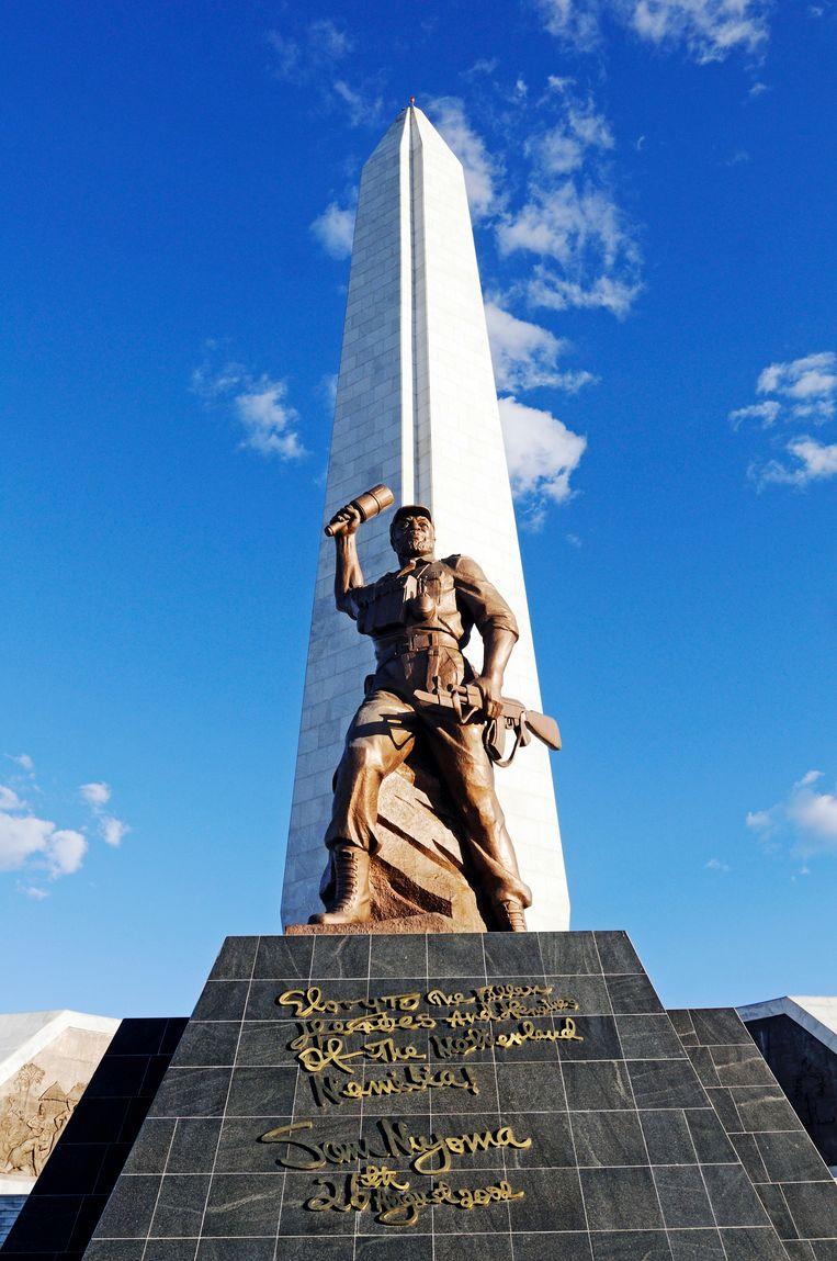 De naamloze held van de onafhankelijkheid in Windhoek, Namibië. Beeld rv