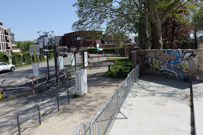 Het stadspark aan de Belgiëlaan.