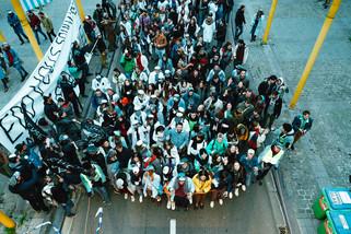 fotoreeks over Brusselse studenten vierden 'St. V' vandaag