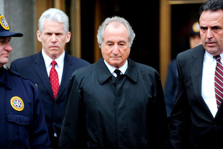 Megafraudeur Bernard Madoff is overleden in de gevangenis. Hij zat een celstraf uit van 150 jaar.  Beeld EPA