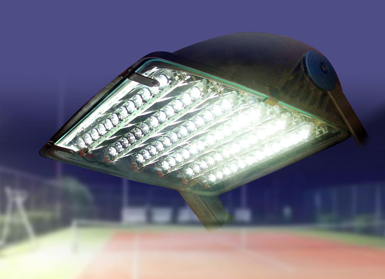 Ledverlichting voor een sportpark.