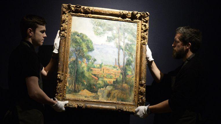 'Vue sur l'Estaque et le Chateau d'If' van de Franse kunstenaar Paul Cezanne.