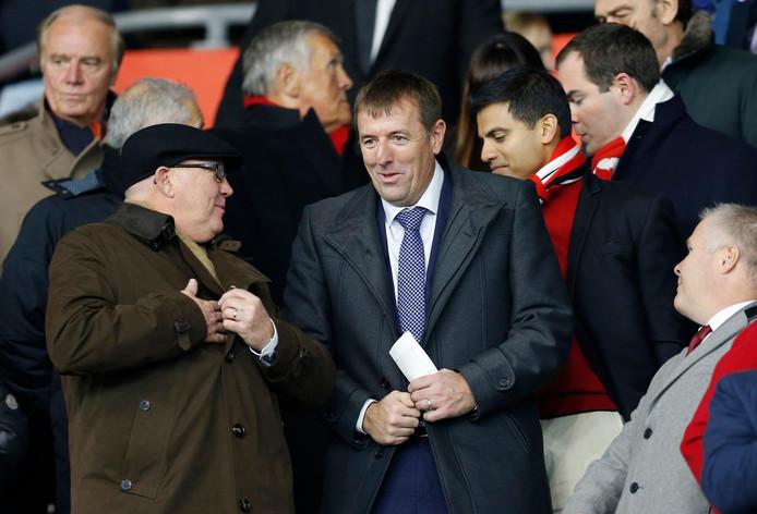 Matt Le Tissier op de tribune bij Southampton.