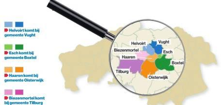 Haaren is verdeeld: drie 'nieuwe' gemeenten met ruim 30.000 inwoners