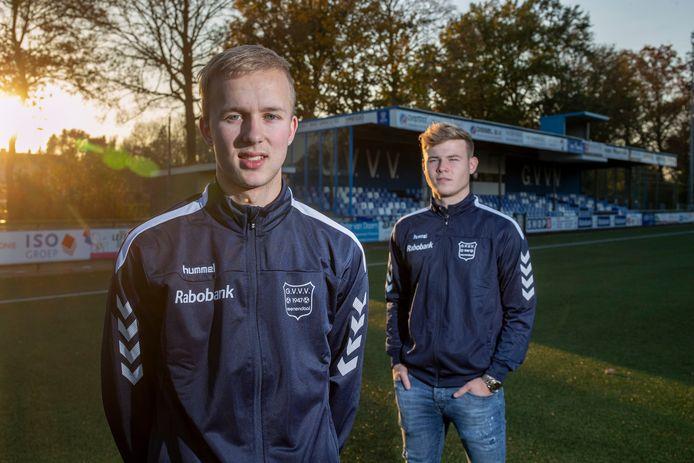 Melvin van de Haar (links) en Justin Spies, talenten van GVVV.