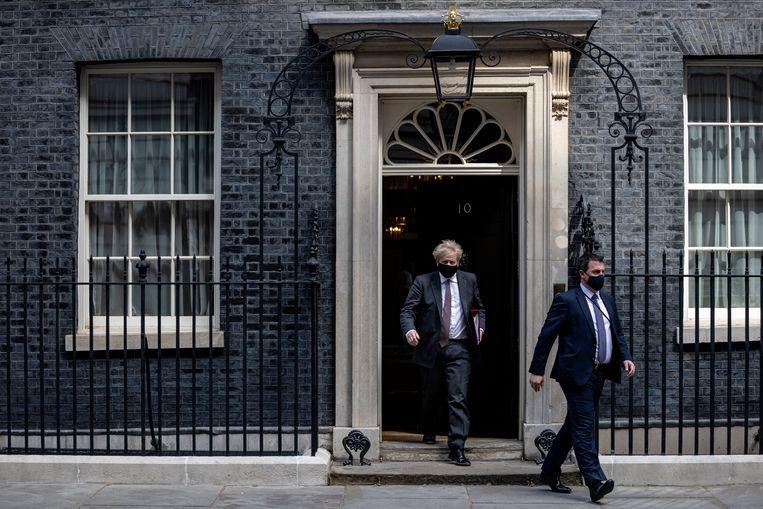 Wie betaalde de verbouwing van de woonruimte aan Downing Street?  Beeld Getty Images