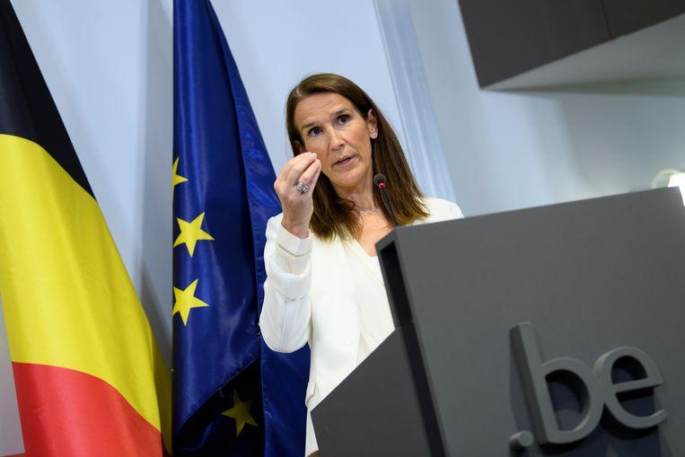 De Belgische premier Sophie Wilmès. Beeld Hollandse Hoogte/EPA