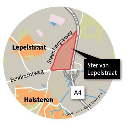 Ster van Lepelstraat, het toekomstig bedrijventerrein.