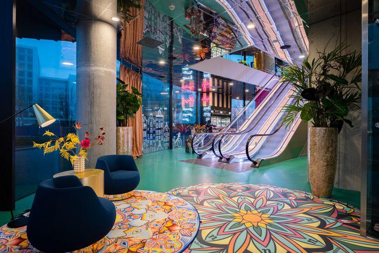 Het interieur van het Nhow Amsterdam Rai Hotel Beeld