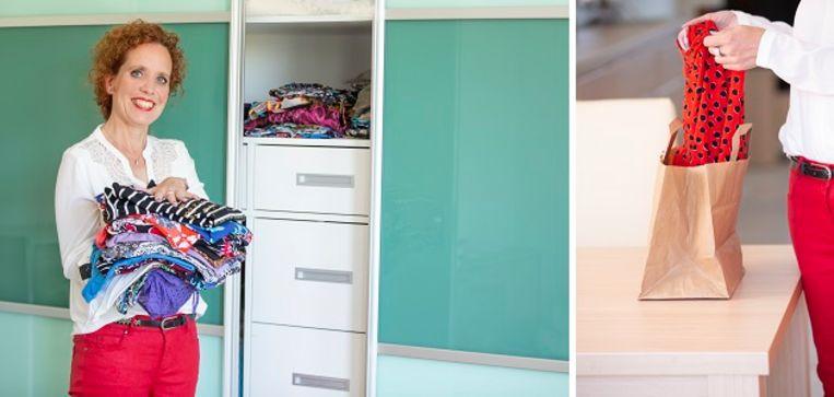 Toen Ellen ging verhuizen merkte ze hoeveel kleding ze had: