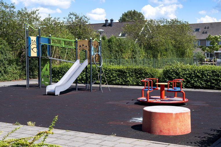 Het speelplein in de Amstelveense Westwijk waar de 14-jarige Frederique is mishandeld. Beeld ANP