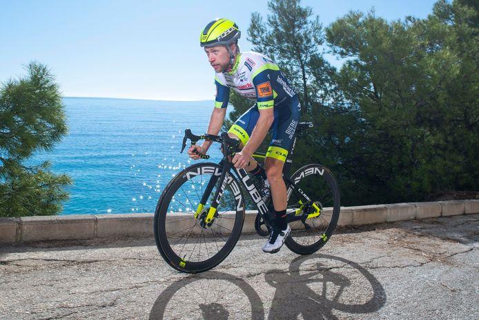 Maurits Lammertink, eerder dit jaar tijdens een trainingskamp in Spanje met zijn ploeg Intermarché - Wanty - Gobert.