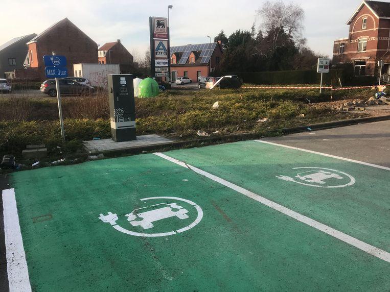 Oplaadpunt voor elektrische wagens in Holsbeek