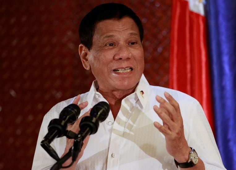 Filipijns president Rodrigo Duterte.  Beeld REUTERS