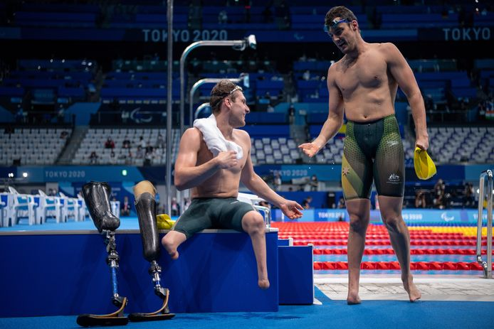 De Australische zwemmers Jesse Aungles en Blake Cochrane.