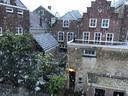 Sneeuw in mei in Den Bosch.
