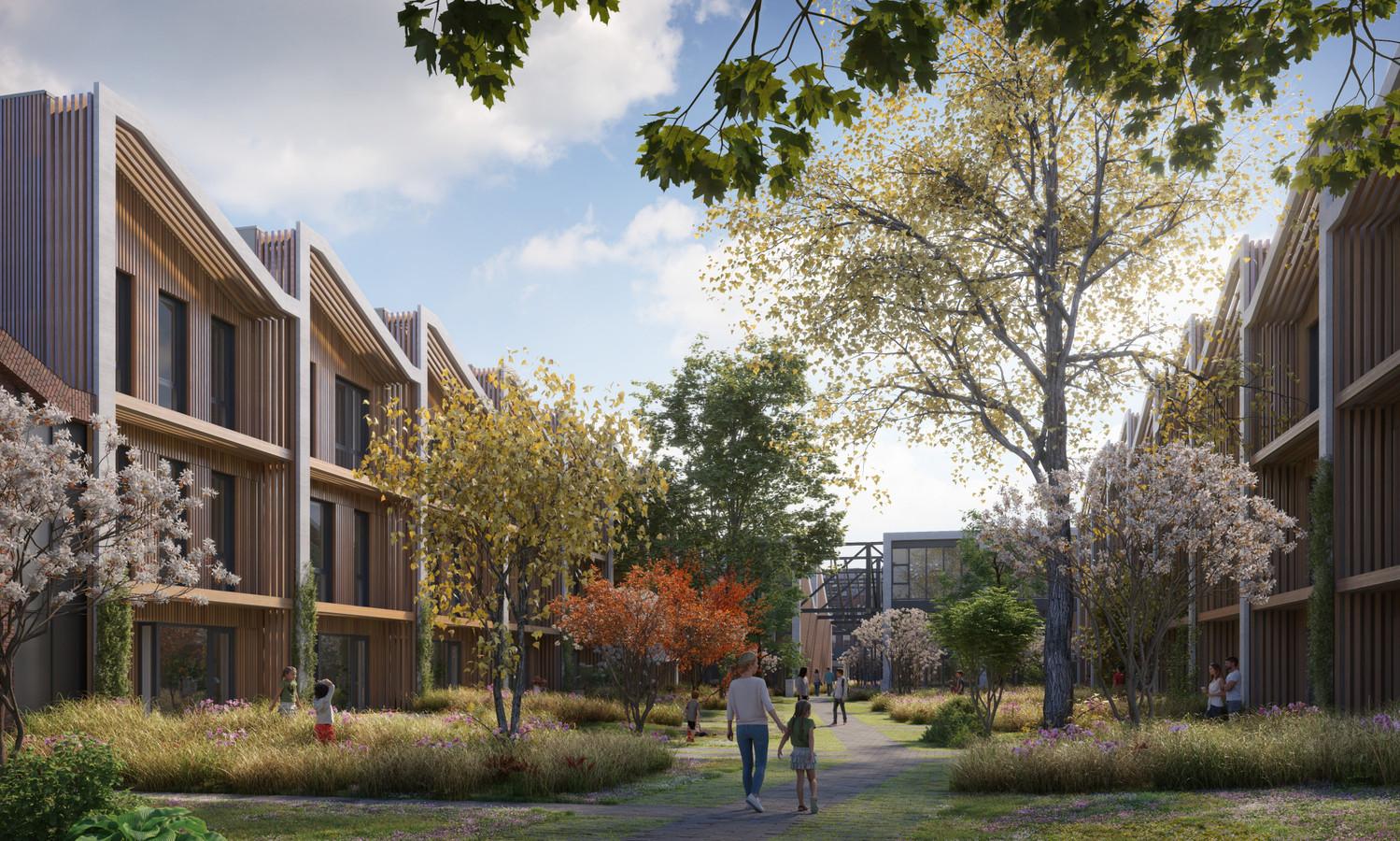 Een impressie van de nieuwe Oranjehof aan het Oranjepark in Dordrecht.