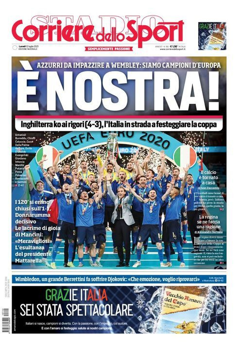 De Corriere dello Sport over de EK-finalel.