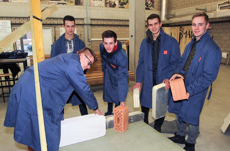 Deze leerlingen maakten kennis met de bouwopleiding van Thomas More.