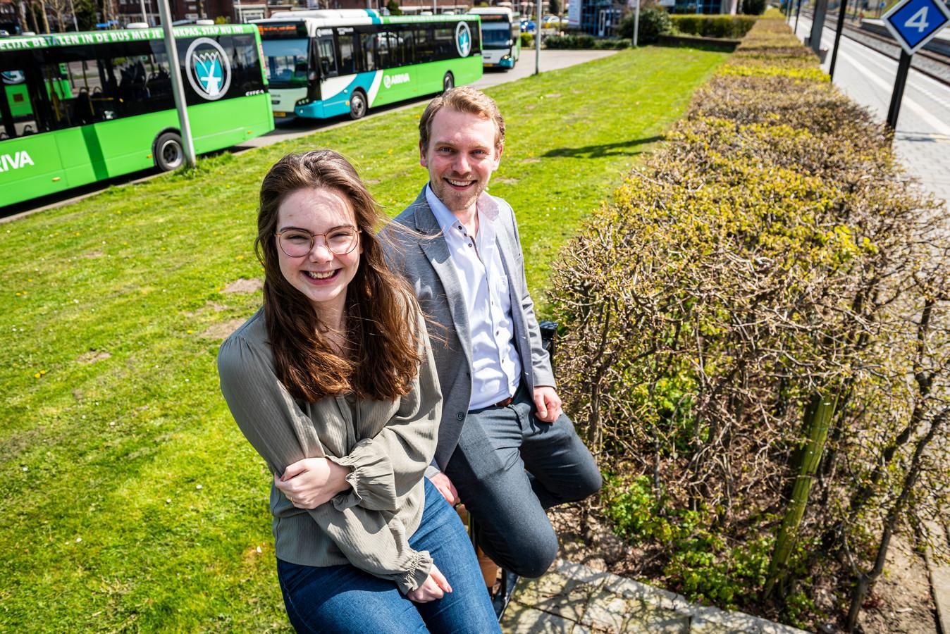 Laurens Riemsdijk en Alies Kampen bij de plek waar ze het Young Talent Centre willen bouwen.
