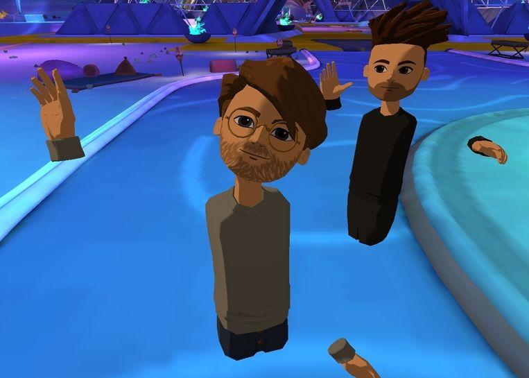Vergaderen in virtual reality op het platform Altspace: 'De avatars zijn hier van zeer goede kwaliteit en dat maakt de interactie des te natuurlijker.' Beeld RV