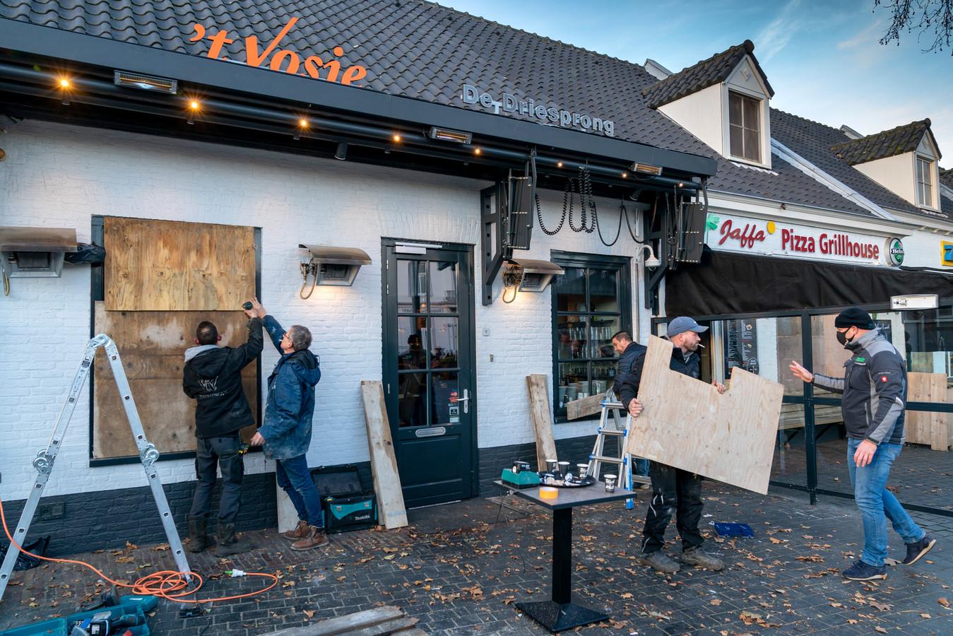 In Rosmalen werden (net als op heel erg veel andere plaatsen) voorzorgsmaatregelen genomen.