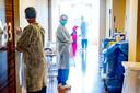 De coronavleugel van revalidatiecentrum Basalt in Den Haag. Het centrum heeft een medisch-specialistisch revalidatieprogramma ontwikkeld voor coronapatiënten na ziekenhuis- of ic-opname.