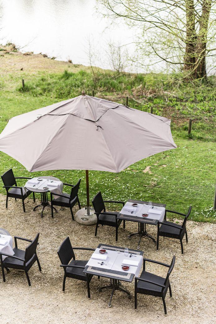 La terrasse très agréable du restaurant Maxime Colin.