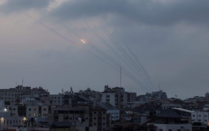 Vanuit de Gazastrook werden meer dan 100 raketten afgevuurd op Israël.