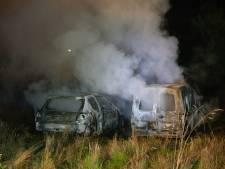 Twee auto's branden volledig uit op terrein van veroordeelde wapenhandelaar Jan B.